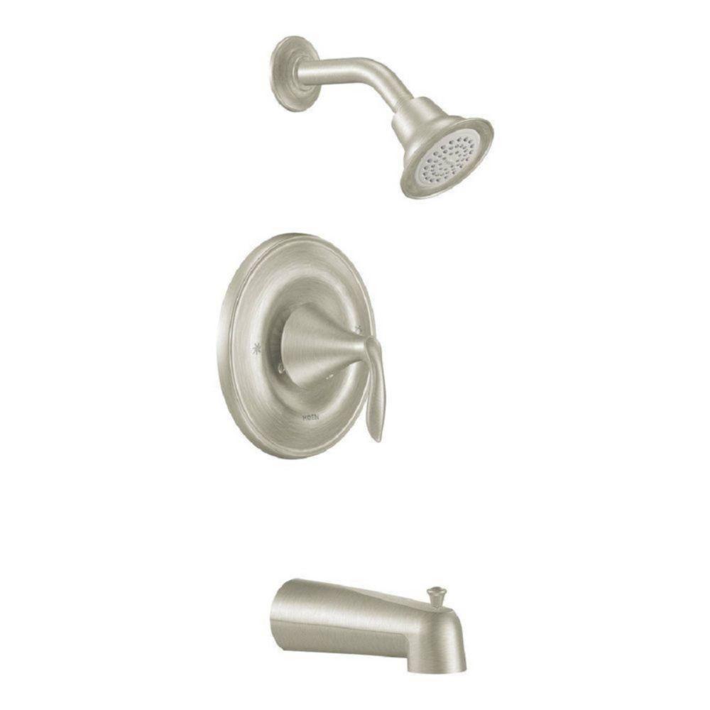 Eva Posi-Temp Bath/Shower Faucet in Brushed Nickel