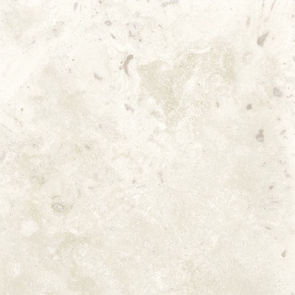 6-Inch x 6-Inch Filled and Honed Tile in Ivory Travertine