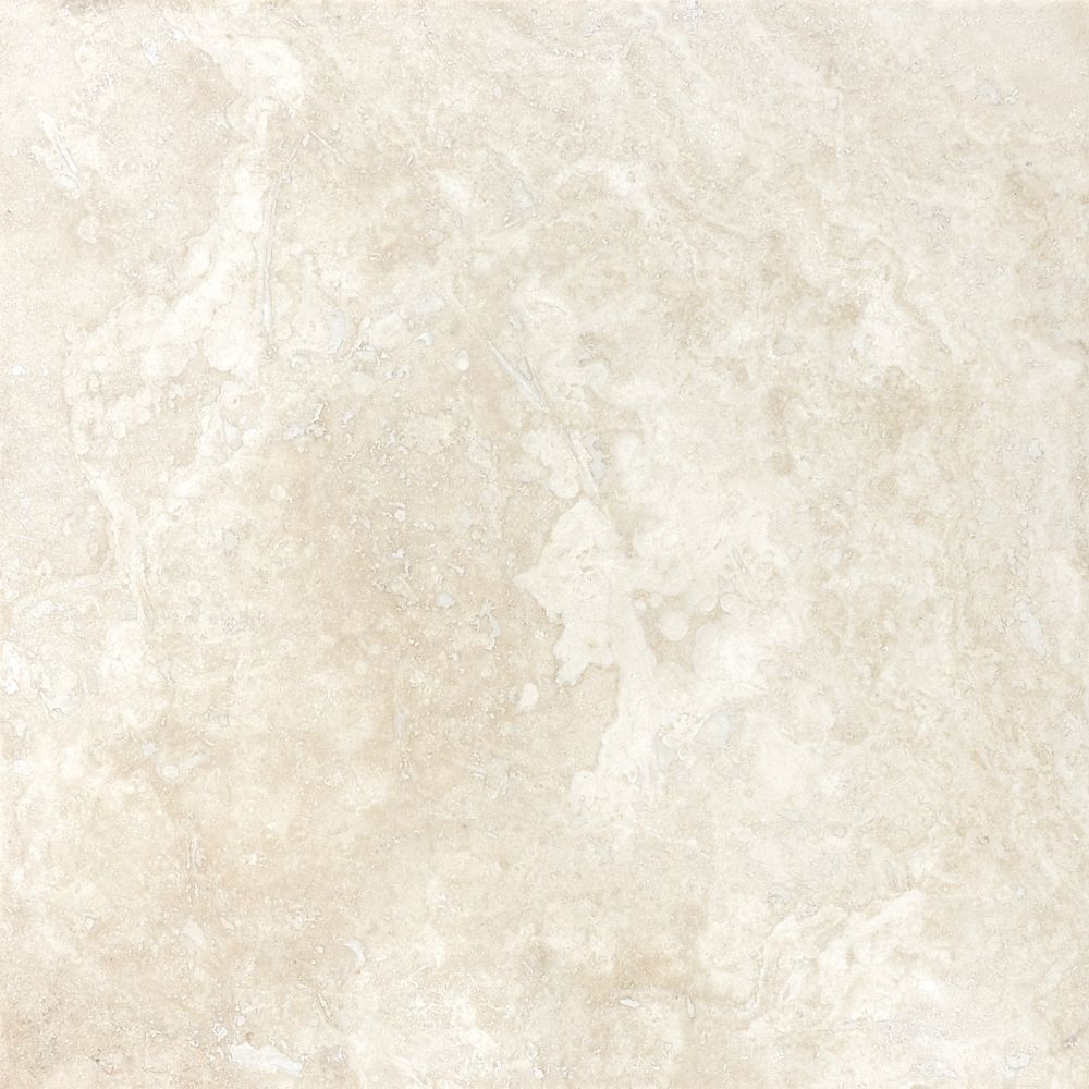 Filled & Honed Ivory Travertine  -12 Inches x 12 Inches