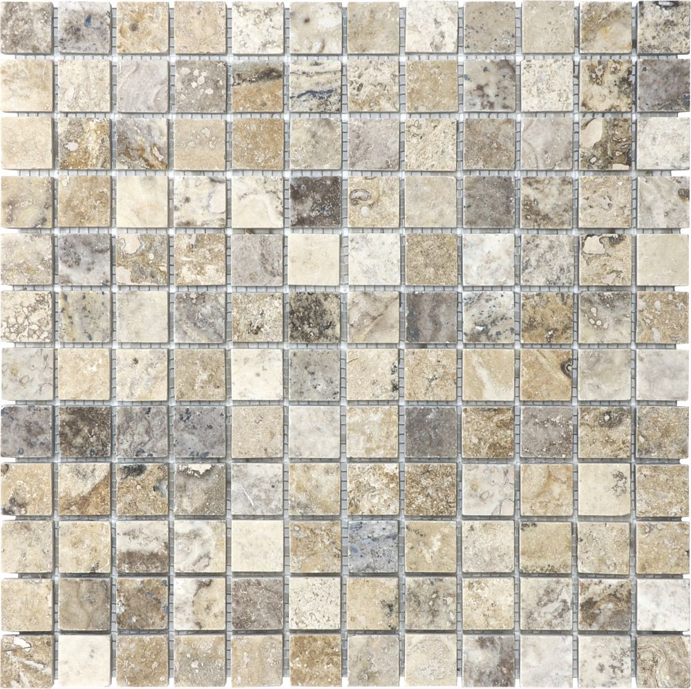 1-Inch x 1-Inch Filled and Honed Picasso Mosaic Tile