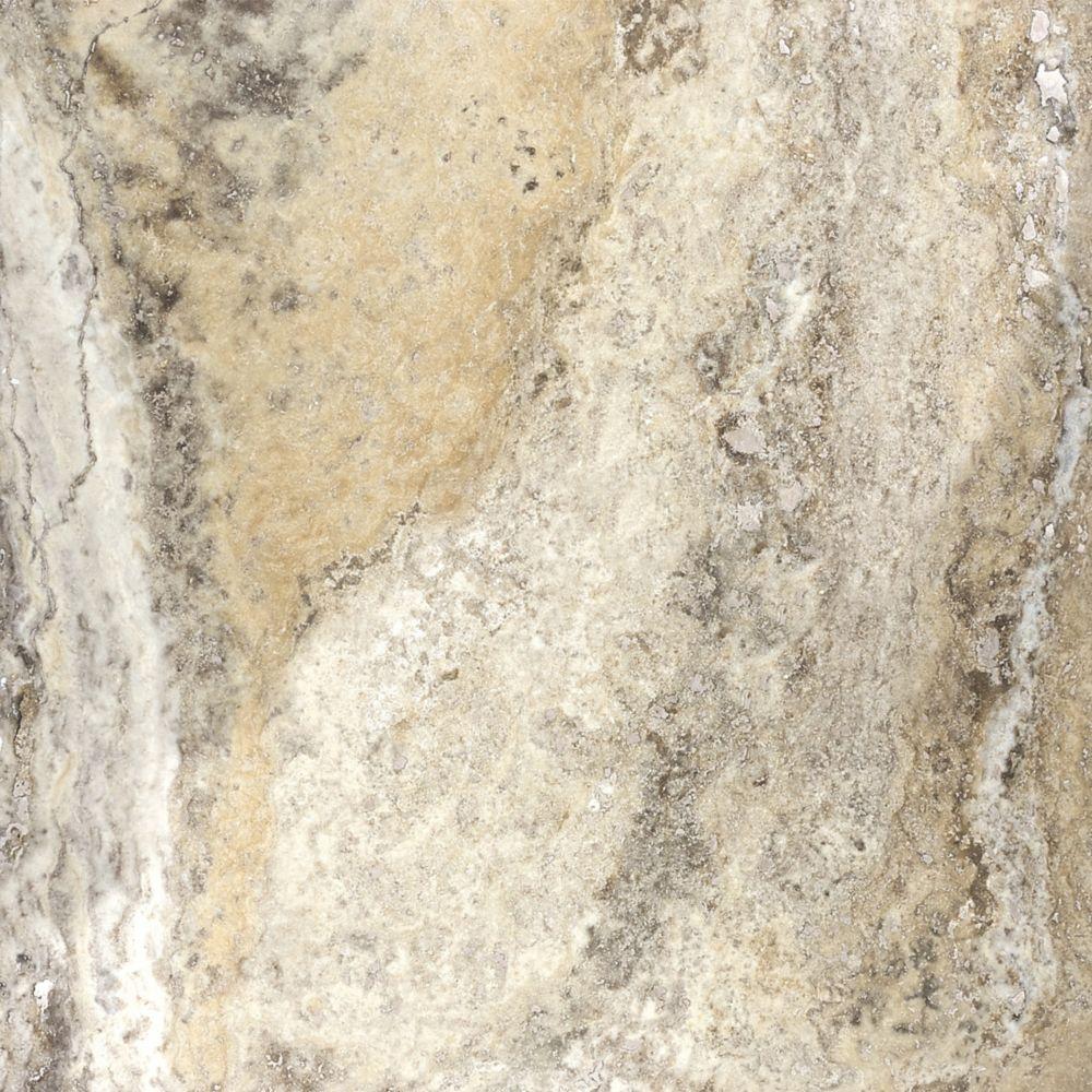 Travertin Picasso à finition mate et bouchée de 18po × 18po (EN BOÎTE) (9 pi. carré par caisse)