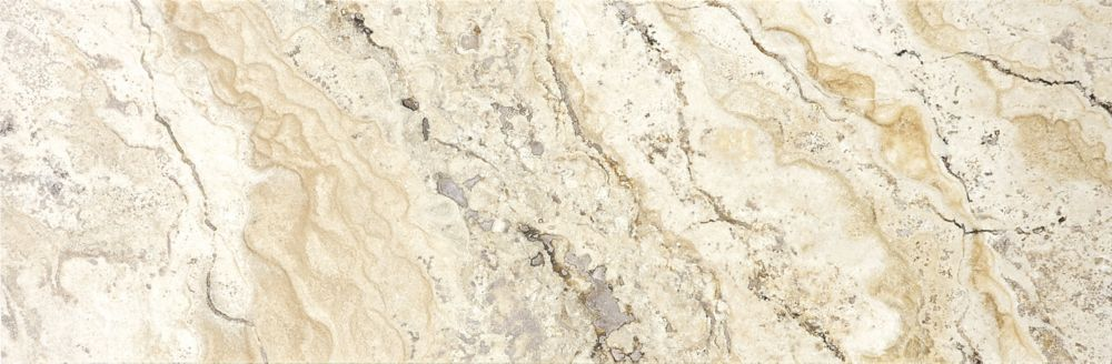 6-Inch x 18-Inch Filled and Honed Picasso Travertine Tile (9 sq. ft./case)
