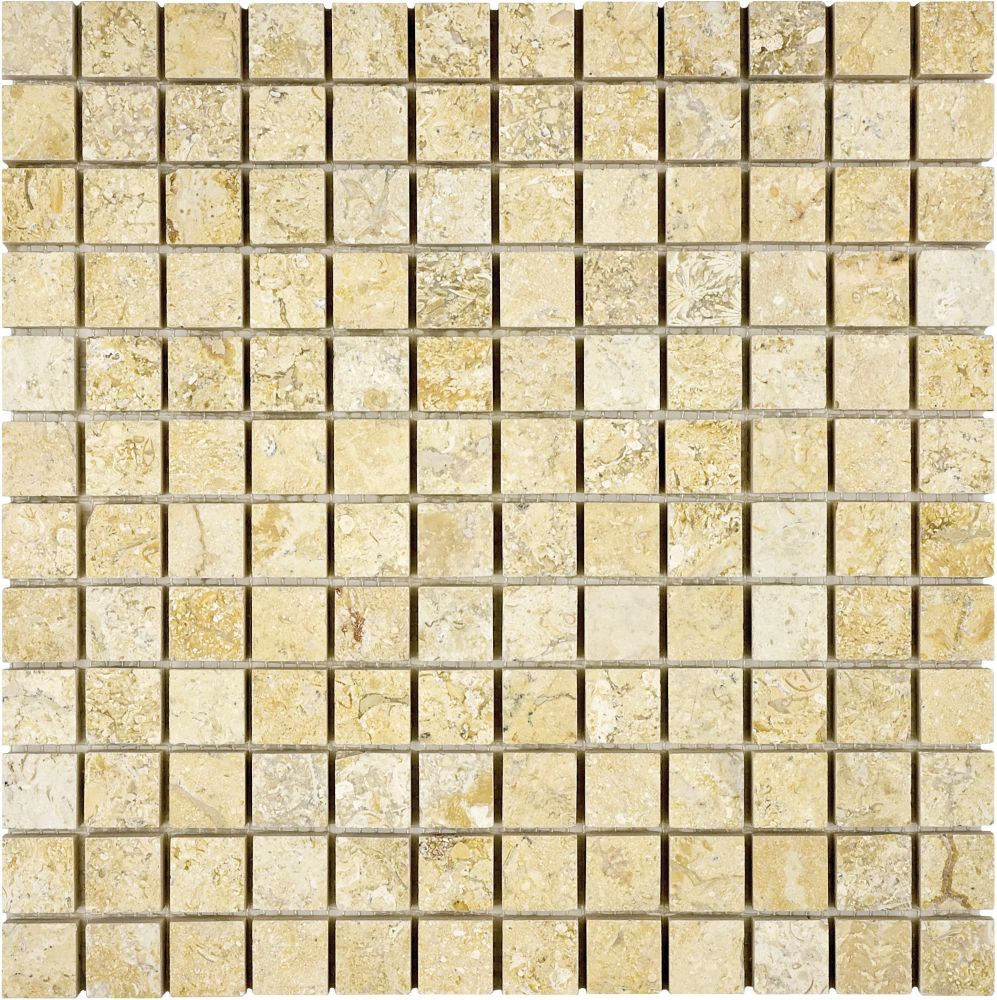 1-Inch x 1-Inch Honed Sahara Gold Mosaic Tile