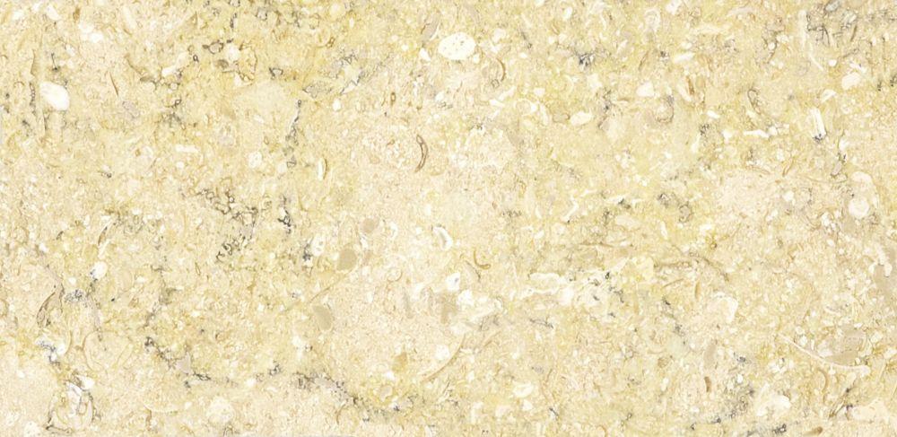 Calcaire Sahara Gold à finition mate de 3 po × 6 po -( 5,5 pi. carré par caisse)
