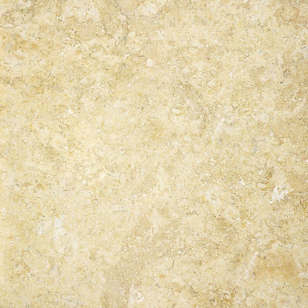 Calcaire Sahara Gold à finition mate de 12 po × 12 po -( 10 pi. carré par caisse)