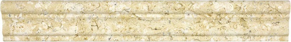 2-Inch x 12-Inch Honed Sahara Gold Aspendos Chair Rail