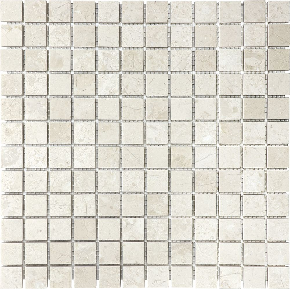 1-Inch x 1-Inch Honed Berkshire Crema Mosaic Tile