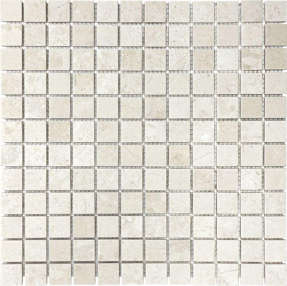 1-Inch x 1-Inch Honed Berkshire Crema Mosaic Tile