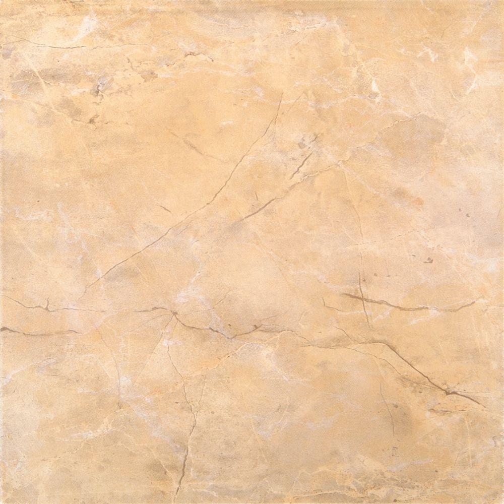 Assiria Marfim 13 Inch x 13 Inch Glazed Ceramic Floor & Wall Tile  -( 11.30 Sq. Ft./ Case)