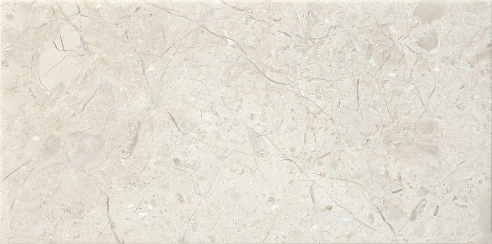 Marbre Berkshire Crema à finition mate de 3 po × 6 po -( 5,5 pi. carré par caisse)
