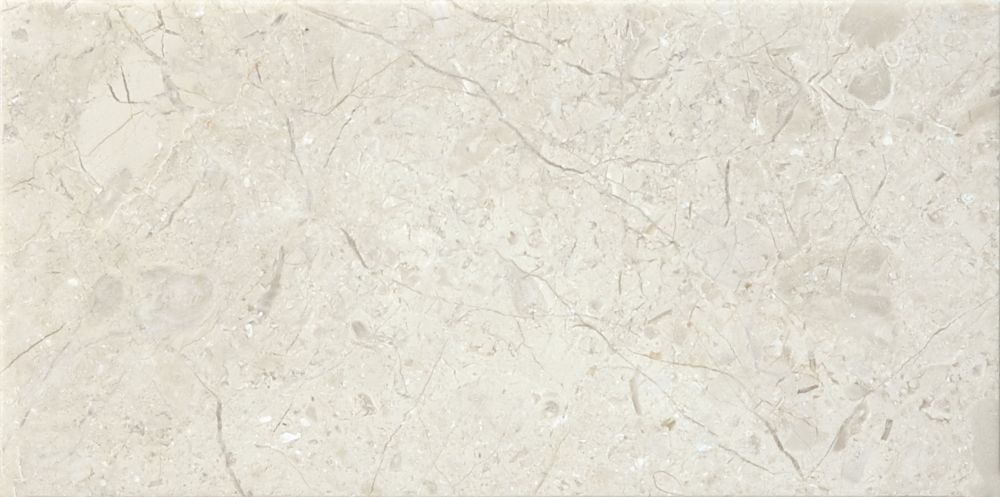 3-Inch x 6-Inch Honed Berkshire Crema Marble (5.5 sq. ft./case)