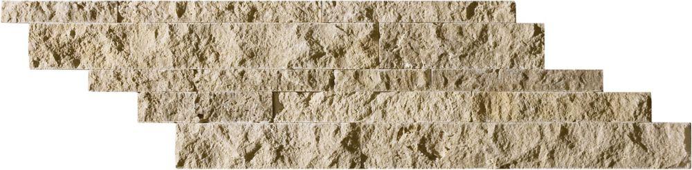 Split Face Picasso Travertine Cambria Strips