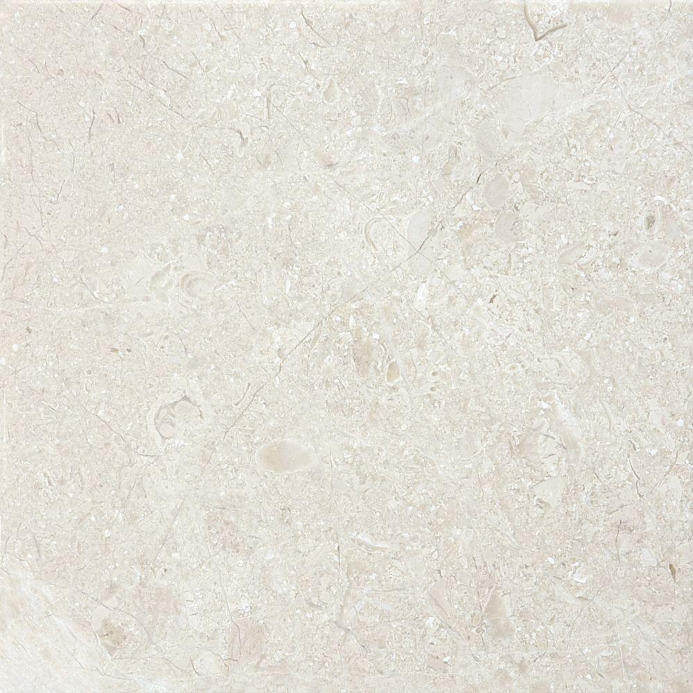 Marbre Berkshire Crema poli de 6 po × 6 po -( 5,5 pi. carré par caisse)