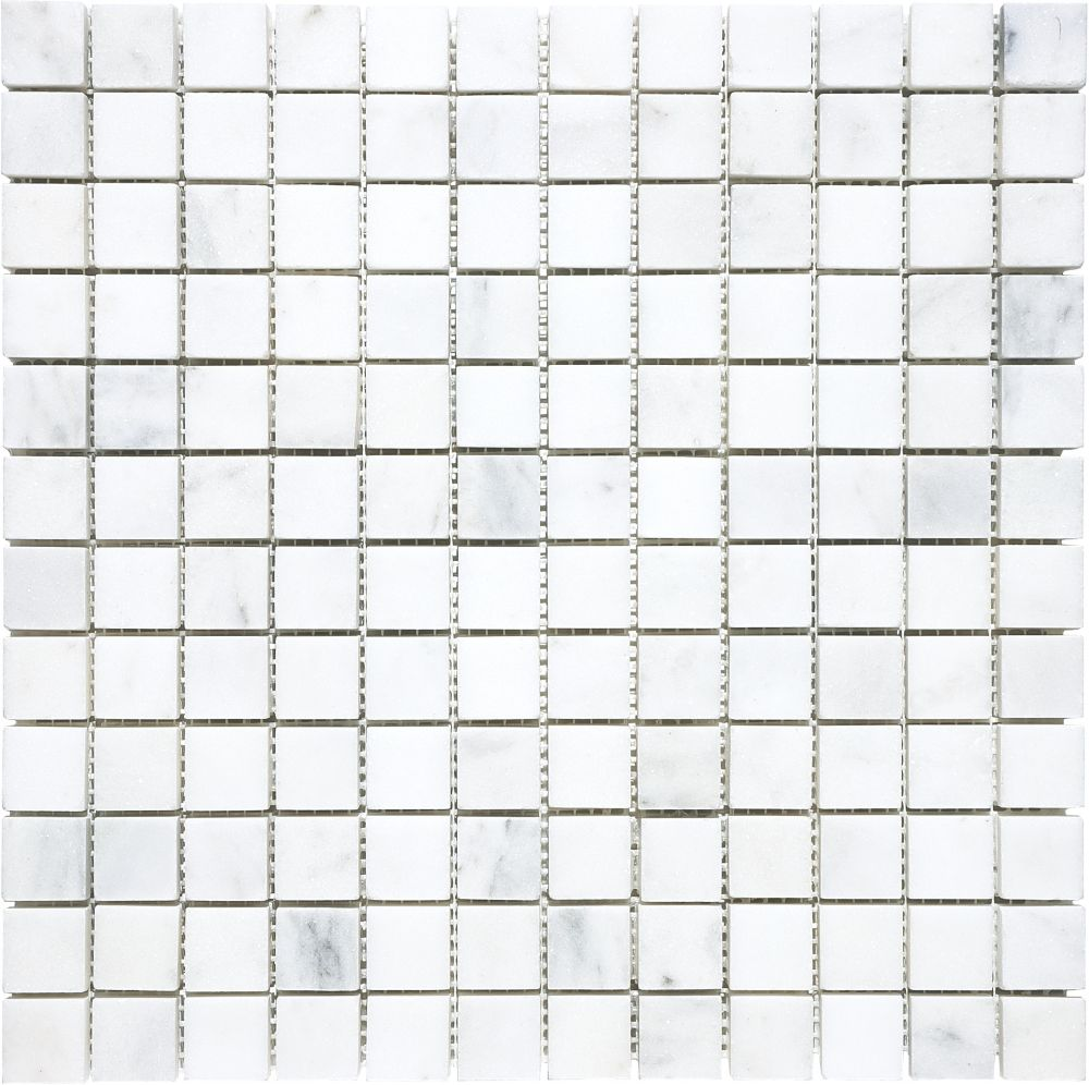 Mosaïques Bianco Venatino à finition mate de 1 po × 1 po