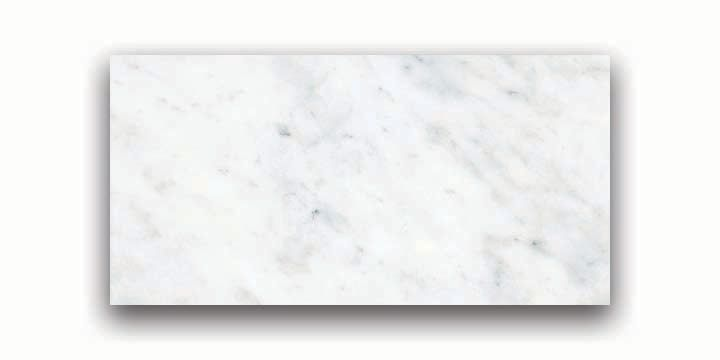 3-Inch x 6-Inch Honed Bianco Venatino Marble (5.5 sq. ft./case)