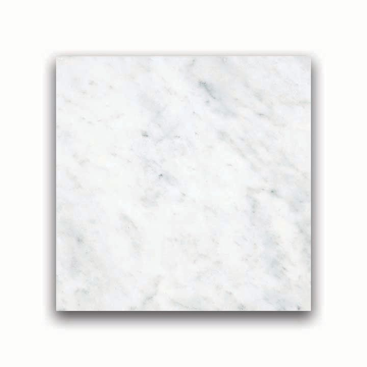 6-Inch x 6-Inch Honed Bianco Venatino Marble (5.5 sq. ft./case)