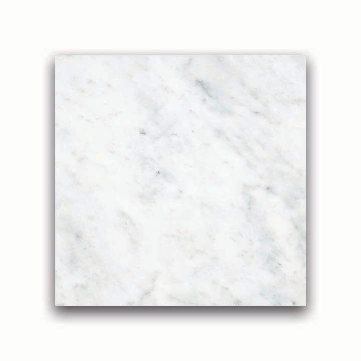 6-Inch x 6-Inch Honed Bianco Venatino Marble (5.5 sq. ft./case)