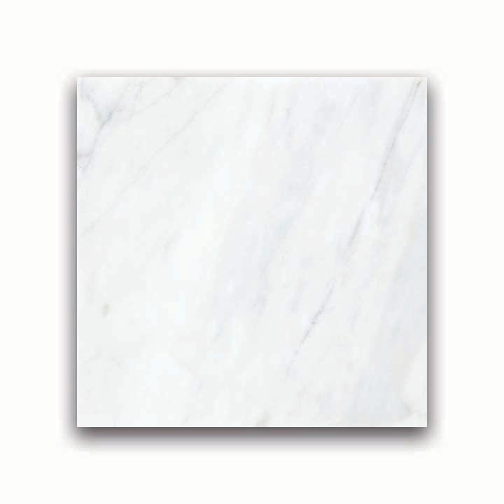 12-Inch x 12-Inch Honed Bianco Venatino Marble