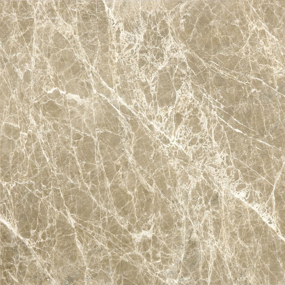 Polished Emperador Light Marble - 12 Inches x 12 Inches