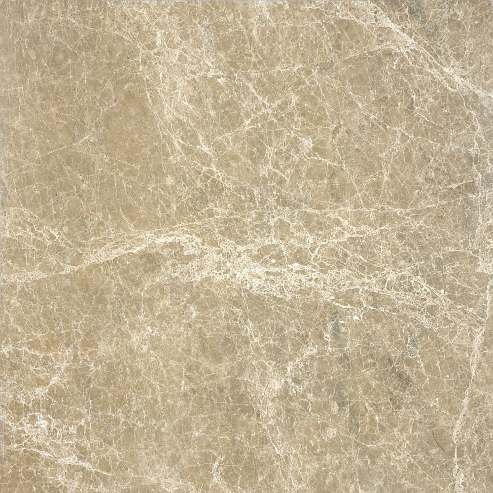 Polished Em/ador Light Marble - 18 Inches x 18 Inches -( 9 Sq. Ft./Case)
