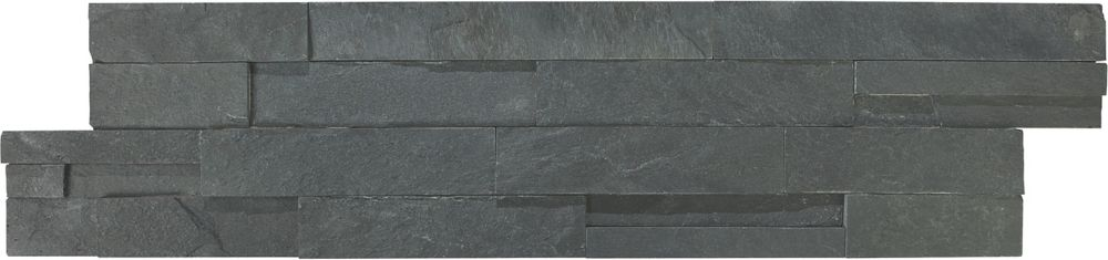 6-Inch x 24-Inch Carbon Ledger Stone Tile (6 sq. ft./case)