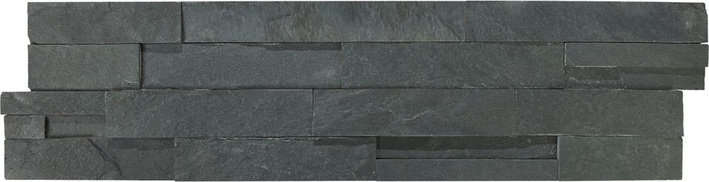 Carbon Ledger Stone Corner - 6 Inches x 24 Inches