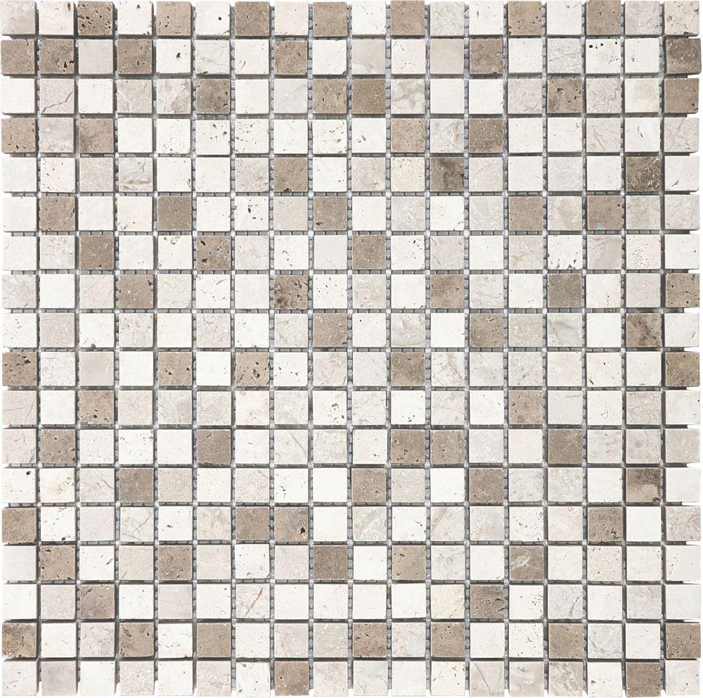 5/8-Inch x 5/8-Inch Khaki Blend Mosaic Tile