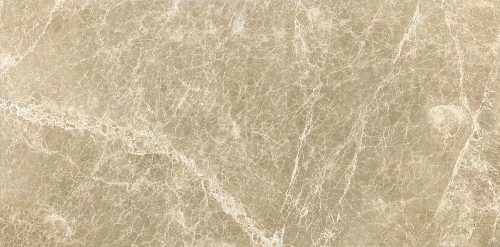 12-Inch x 24-Inch Honed Emperador Light Marble (8 sq. ft./case)