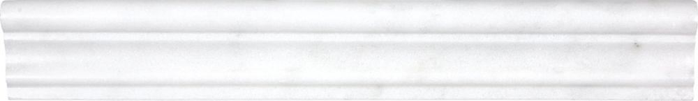 Honed Bianco Venatino Aspendos Chairrails - 2 Inches x 12 Inches