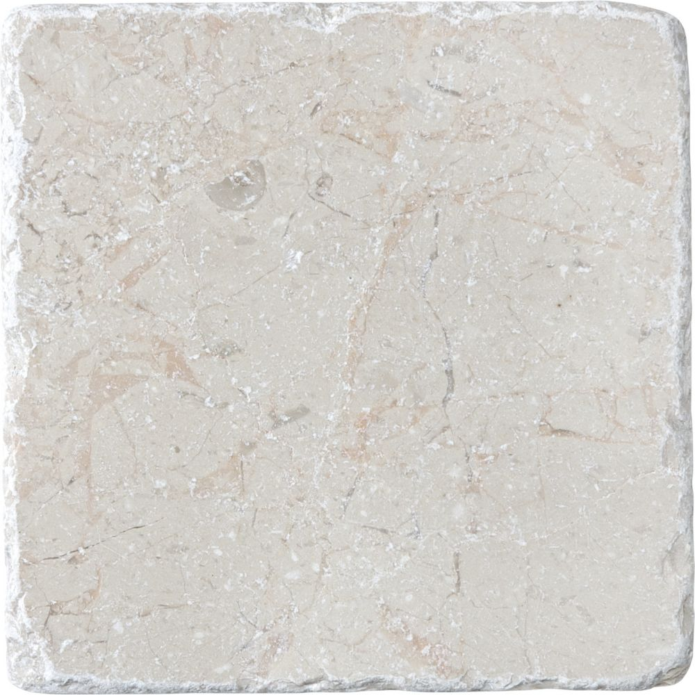 4-Inch x 4-Inch Tumbled Berkshire Crema Tile (5.38 sq. ft./case)