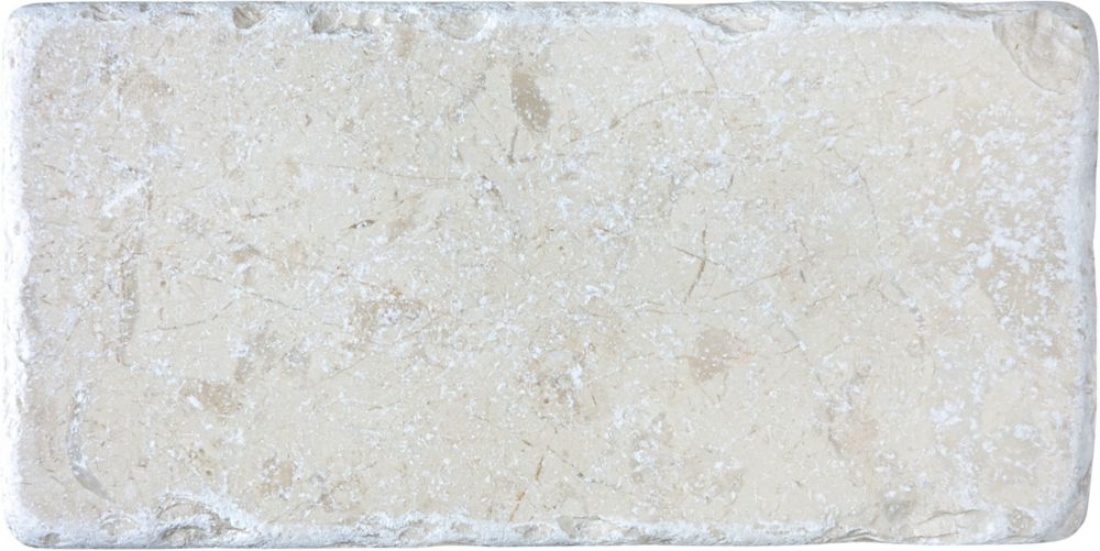 3-Inch x 6-Inch Tumbled Berkshire Crema Tile (5.81 sq. ft./case)