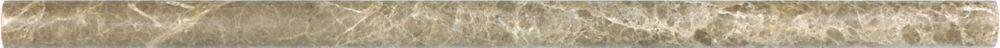 5/8-Inch x 12-Inch Honed Emperador Light Mini Pencil Tile