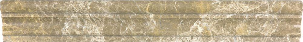 Cimaises de protection Emperador Light Aspendos polies  de 2po × 12po