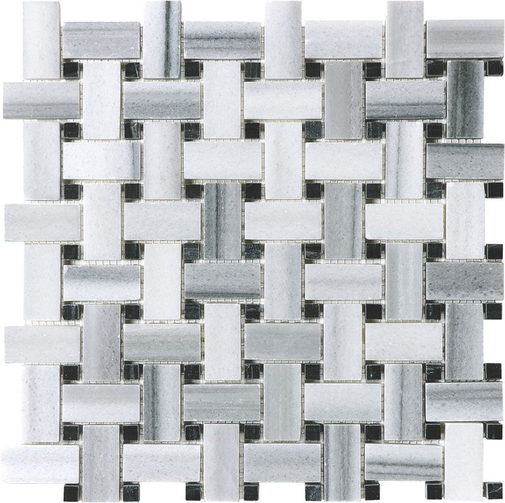 Honed Fluid Basketweave Mosaics