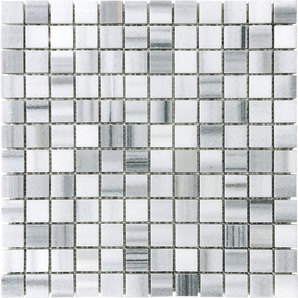 1-Inch x 1-Inch Polished Fluid Mosaic Tile