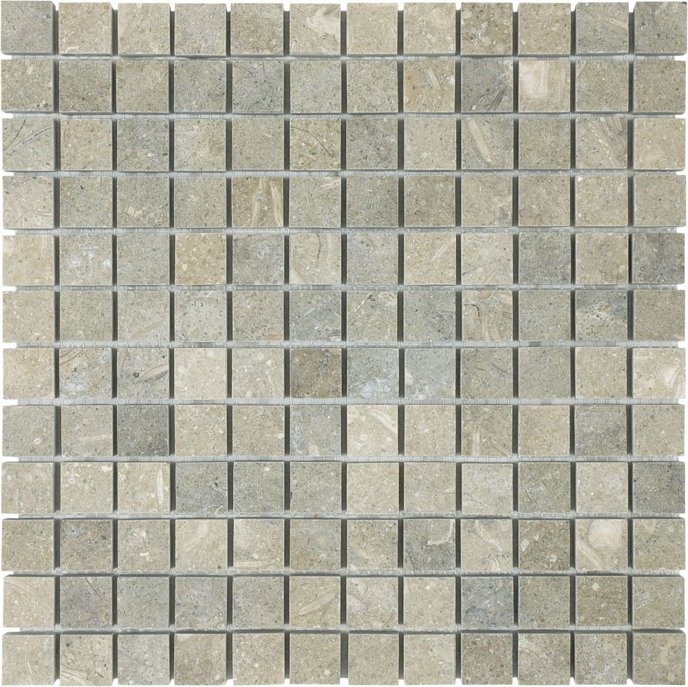 Honed Seagrass Mosaics - 1 Inch x 1 Inch