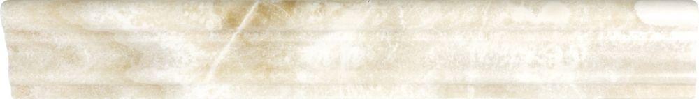 2-Inch x 12-Inch Polished Crema Onyx Aspendos Chair Rail