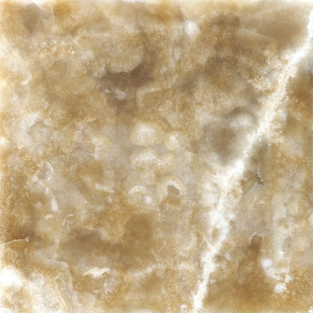 4-Inch x 4-Inch Polished Caramel Onyx Mosaic Tile (5.38 sq. ft./case)