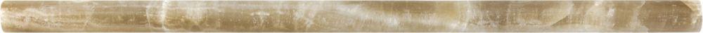 Mini-carreaux longs et étroits en onyx Caramel poli  de 5/8po × 12po