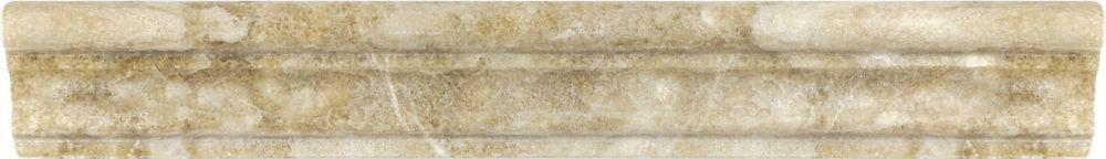 2-Inch x 12-Inch Polished Caramel Onyx Aspendos Chair Rail
