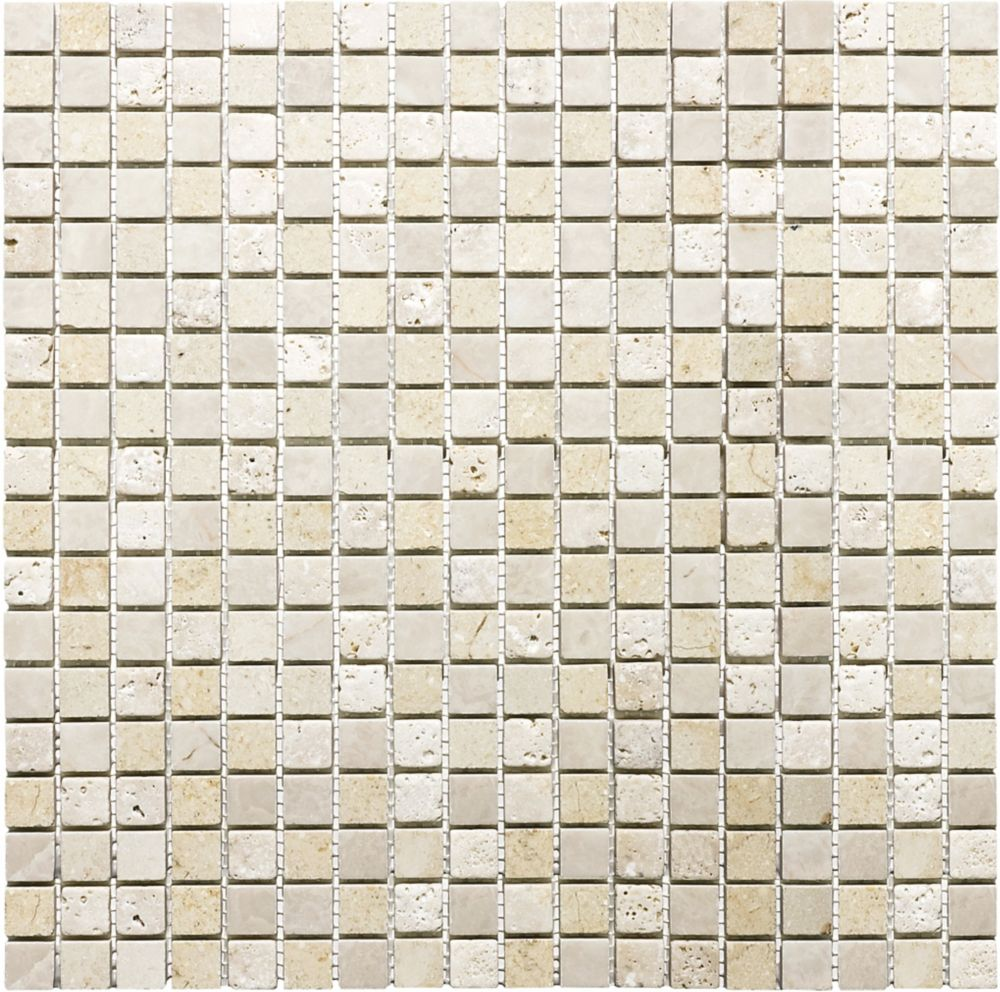 5/8-Inch x 5/8-Inch Summerhouse Blend Mosaic Tile