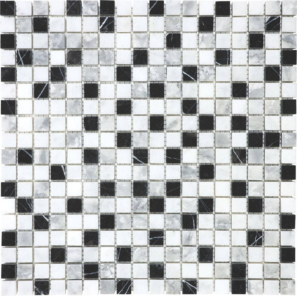 5/8-Inch x 5/8-Inch Glacier Blend Mosaic Tile