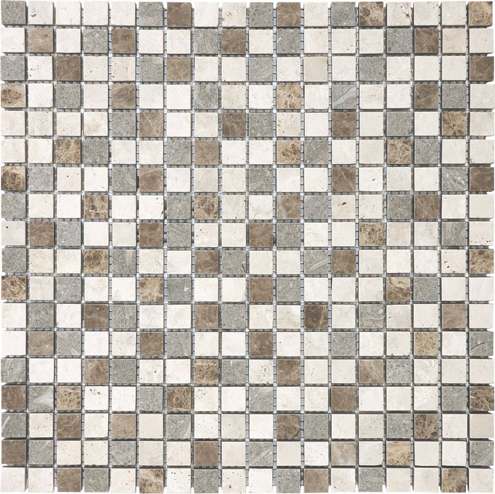 5/8-Inch x 5/8-Inch Countryside Blend Mosaic Tile