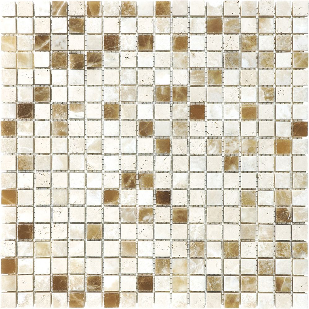 5/8-Inch x 5/8-Inch Onyx Blend Mosaic Tile