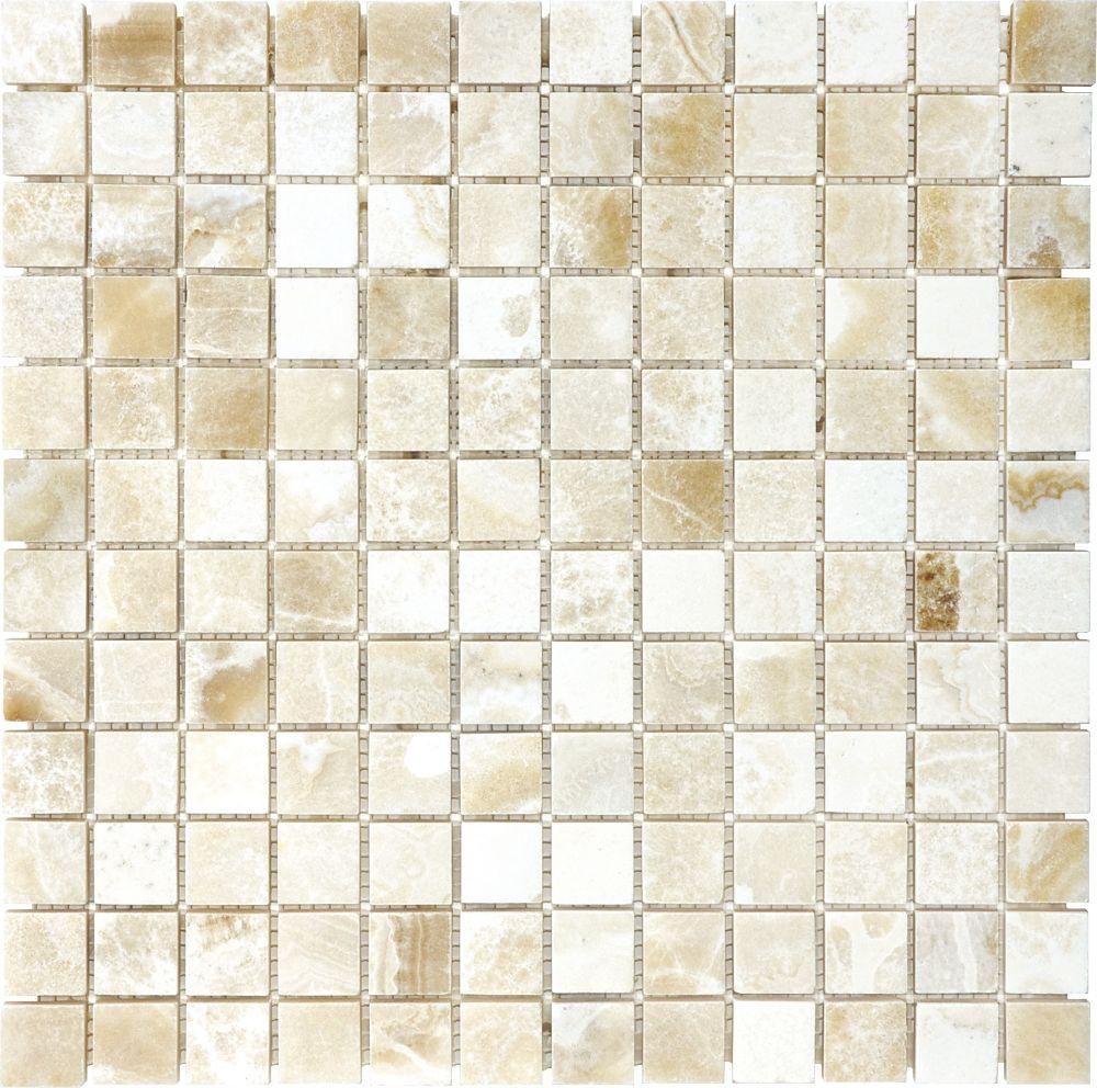 1-Inch x 1-Inch Polished Crema Onyx Mosaic Tile