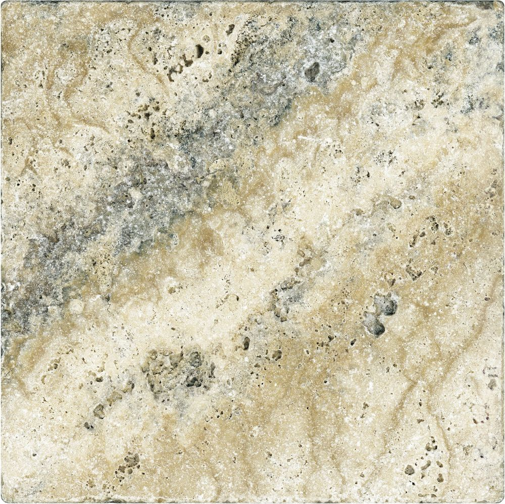 12-Inch x 12-Inch Tumbled Picasso Travertine Tile (10 sq. ft./case)
