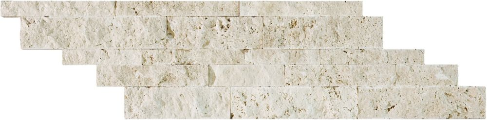 Split Face Cambria Strips in Ivory Travertine (5 sq. ft./case)