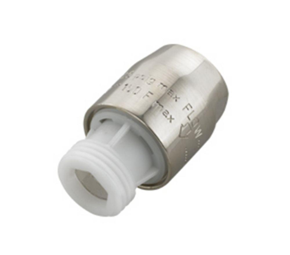 1/2 Inch Brass NPT In-Line Vacuum Breaker in Polished Chrome