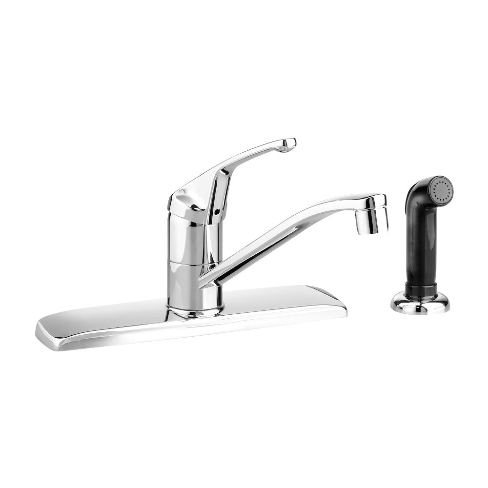 Colony Single-Handle Side Sprayer Kitchen Faucet in Polished Chrome