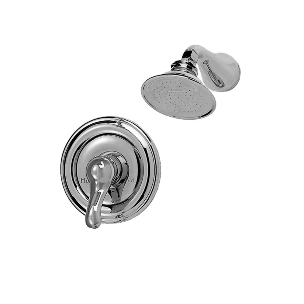 Jasmine Single-Handle Shower Faucet with Rain Showerhead in Polished Chrome